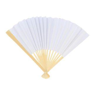Blanco waaier van hout en papier om in te kleuren. Leuk als knutselset tijdens een thematisch kinderfeest rond prinsessen.
