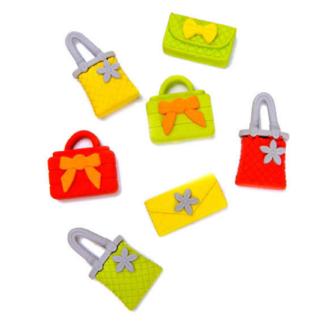 Gom in de vorm van een handtas. Er zijn verschillende kleuren en uitvoeringen. Dit is een leukuitdeelcadeau tijdens een meidenfeest.