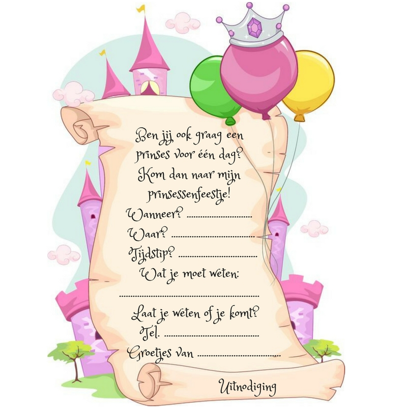 de uitnodiging voor een kinderfeestje wat moet er in