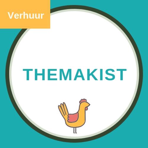 Themakist voor boerderij kinderfeestje met een afbeelding van een gele kip