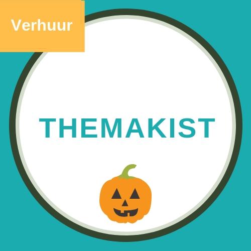 Themakist voor een kinderfeestje rond halloween met een afbeelding van een oranje pompoen met een lachend gezichtje