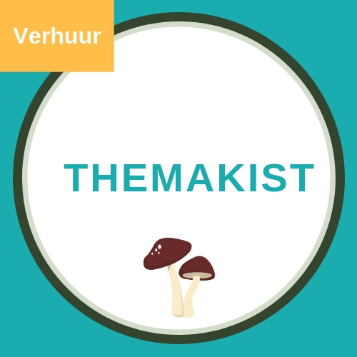 Themakist voor themafeest kabouters met afbeelding van twee paddenstoelen