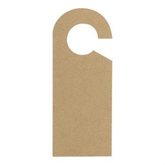 Houten deurhanger om zelf te versieren.