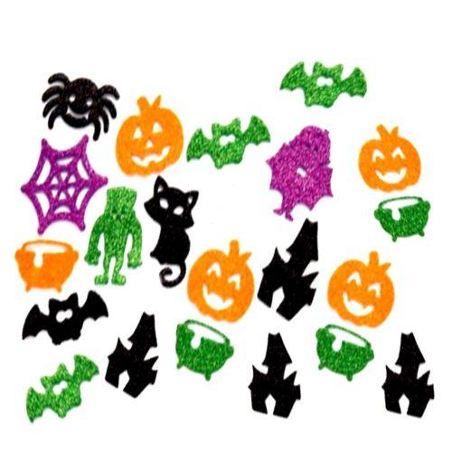 Halloween Thema.Glitter Stickerdecoratie Halloween 120 Stuks
