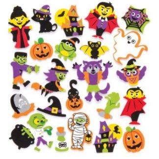 Foam stickers met afbeeldingen in Halloween thema om knutselwerkjes mee te versieren.