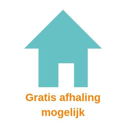symbool van een blauw huis tegen een witte achtergrond