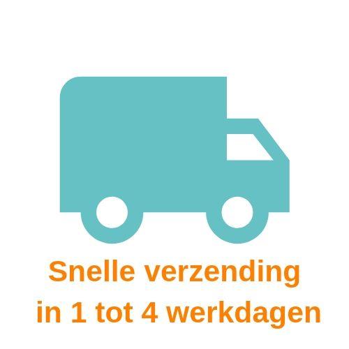 symbool van een blauw vrachtwagen tegen een witte achtergrond