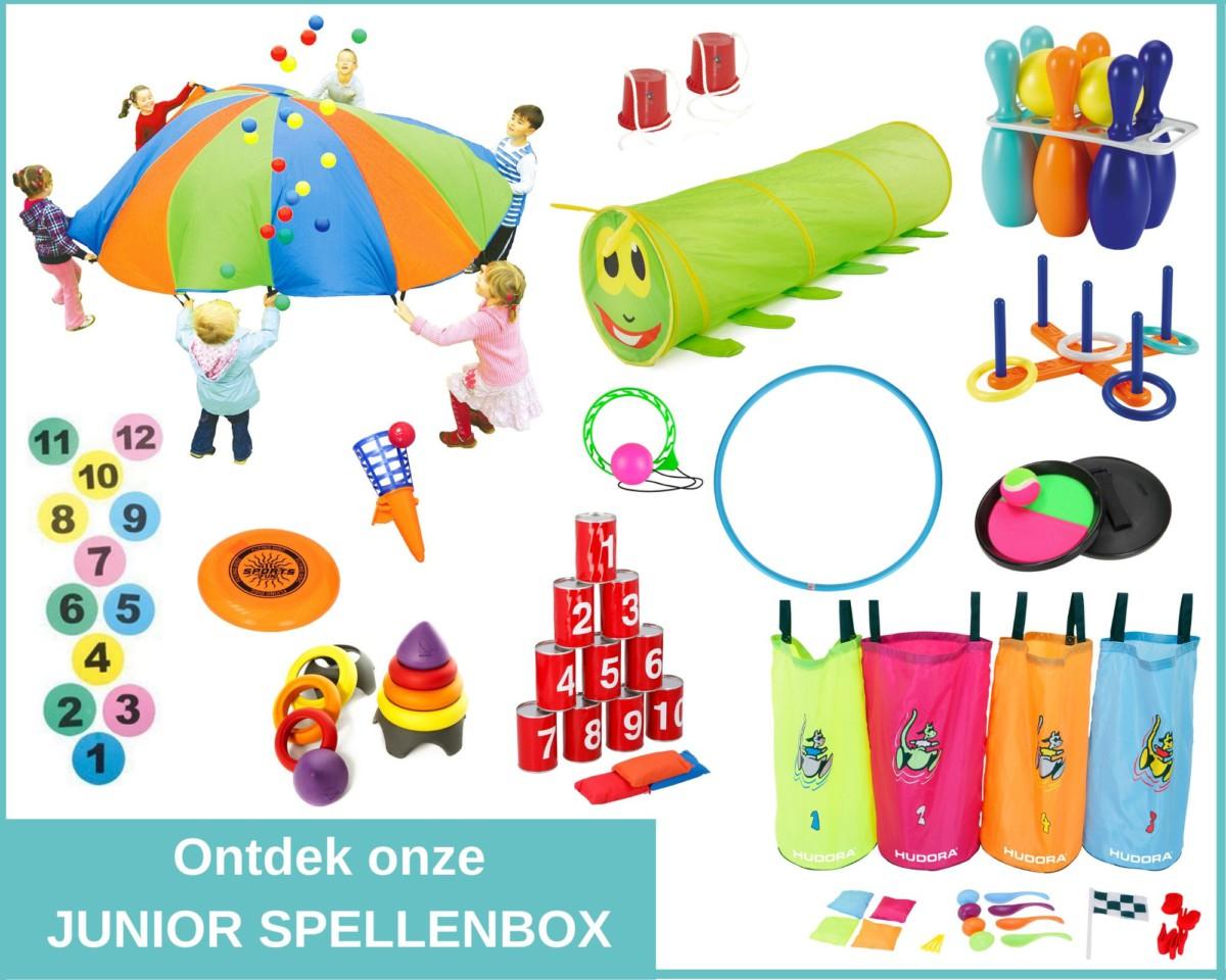spellenbox met speelmateriaal voor kinderen
