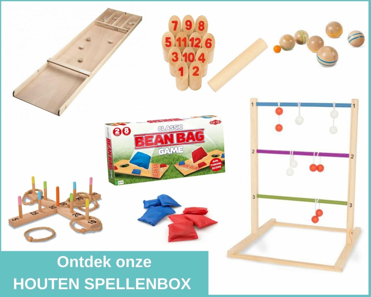 Houten spellenbox a